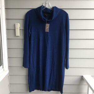 J.JILL Cowl Neck Dress in Atlantic Blue NWT